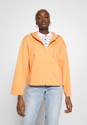HOODIE - veste en sweat zippée - orange trance