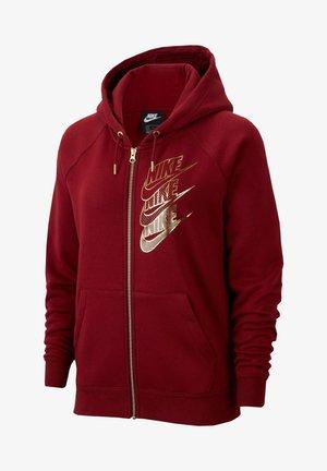 veste en sweat zippée - dark red