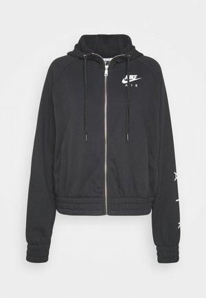 AIR HOODIE - Zip-up hoodie - black/white
