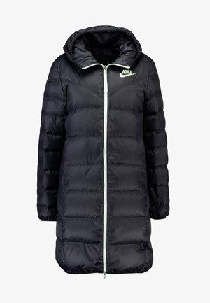 Kabát zprachového peří - black/black/sail