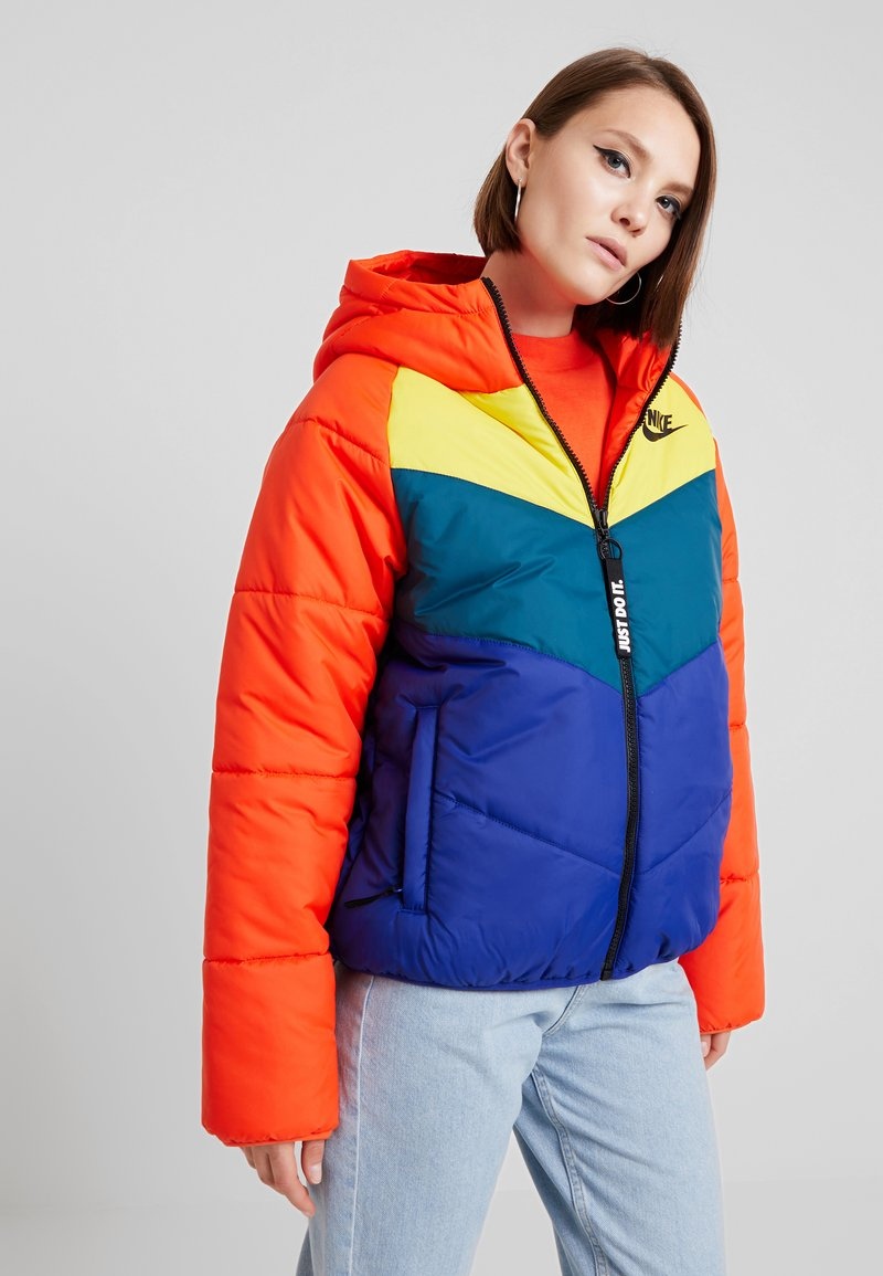Nike Sportswear - FILL - Winter jacket - team orange/chrome yellow/midnight turquoise
