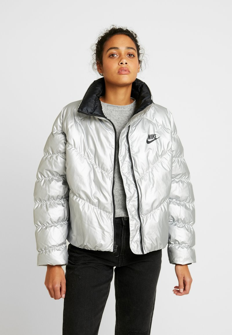 Nike Sportswear - FILL SHINE - Winter jacket - metallic silver/black