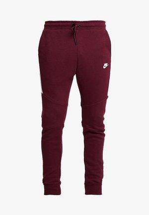 TECH - Pantalones deportivos - night maroon