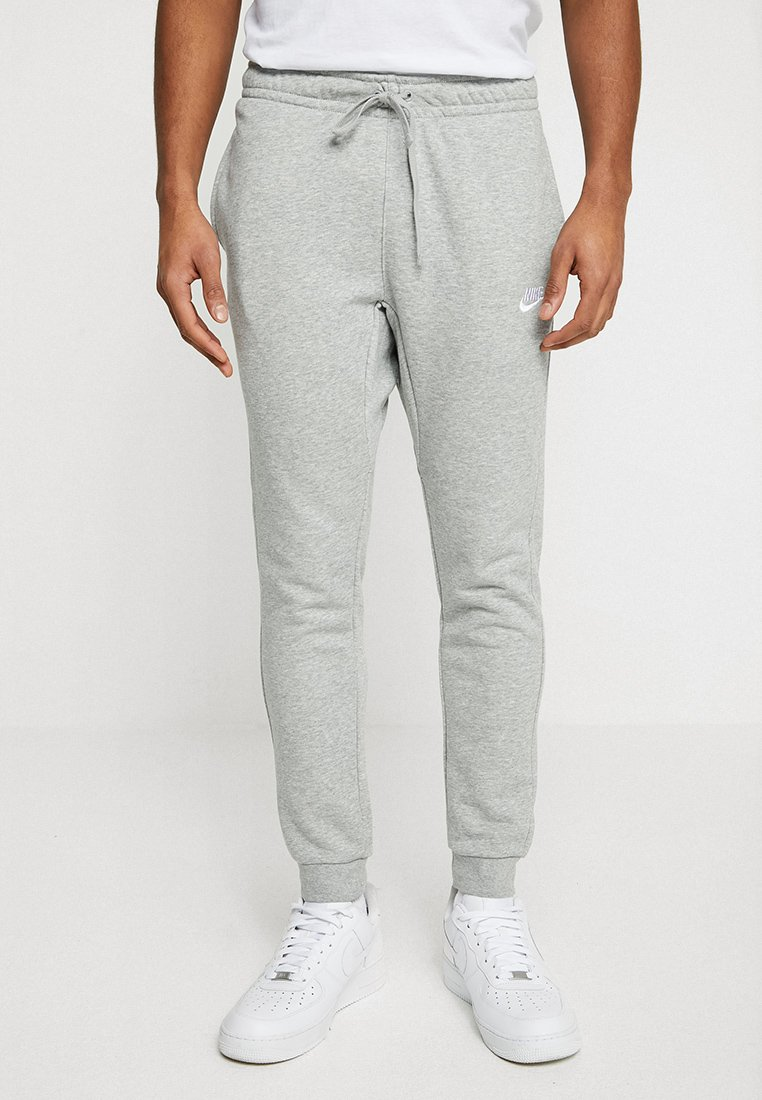 Nike Sportswear - CLUB FRENCH TERRY - Tracksuit bottoms - dark grey heather/white