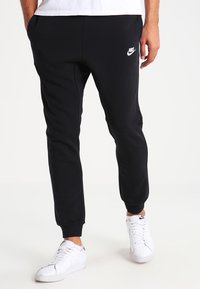 Nike Sportswear - CLUB FRENCH TERRY - Tracksuit bottoms - black/white - 0