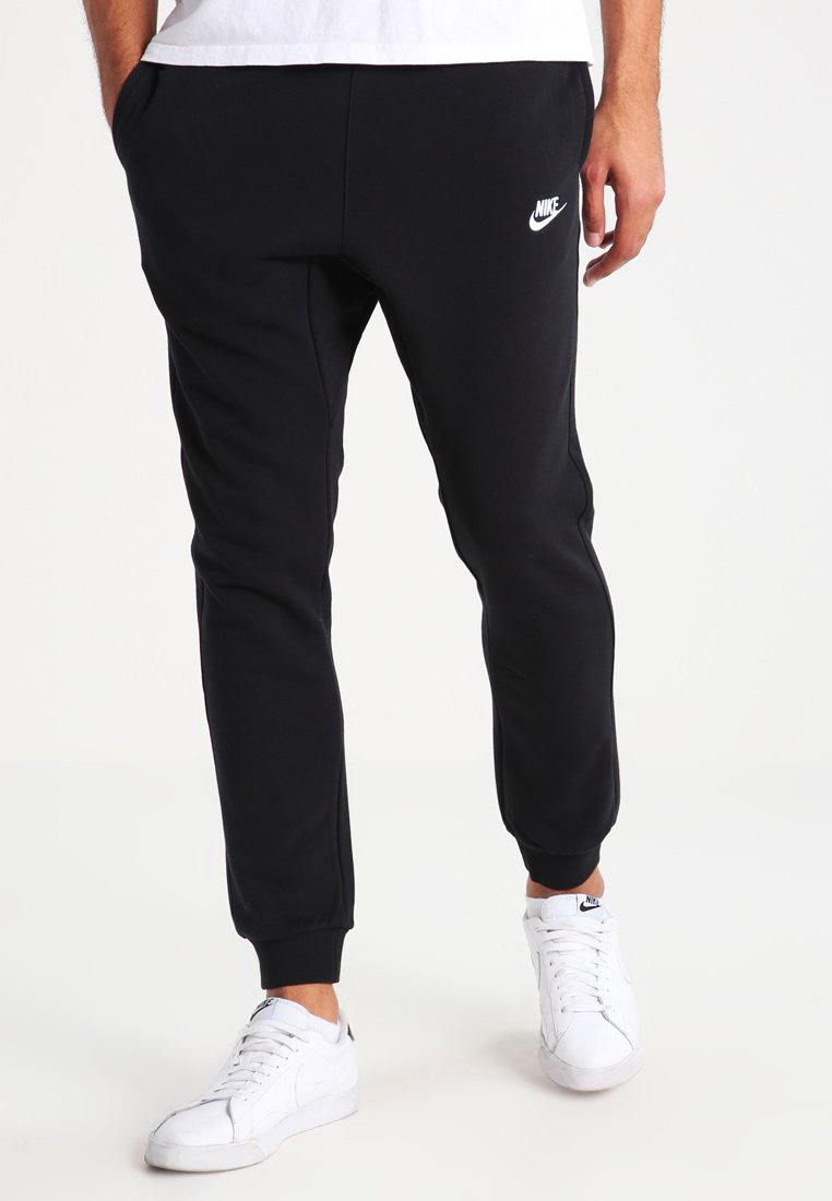 Nike Sportswear - CLUB FRENCH TERRY - Tracksuit bottoms - black/white