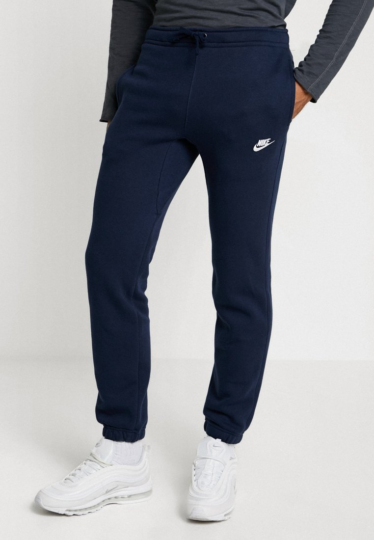 Nike Sportswear - CLUB CUFFED PANT - Tracksuit bottoms - obsidian/white