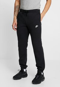 Nike Sportswear - CLUB CUFFED PANT - Tracksuit bottoms - black/white - 0