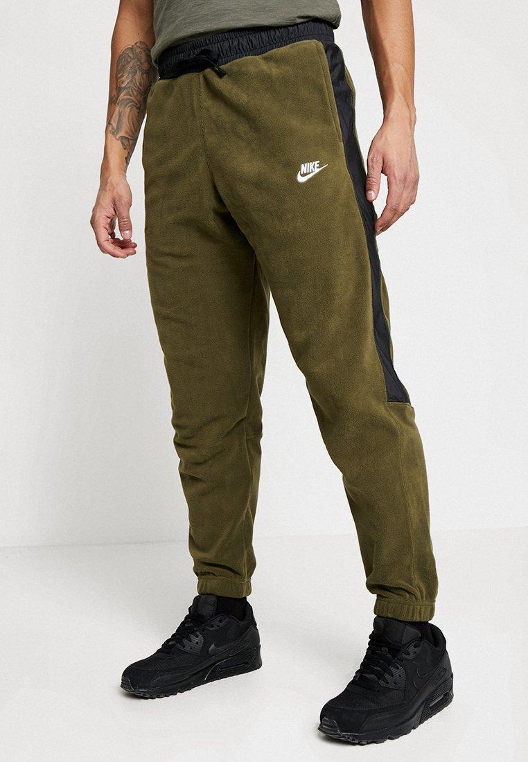 Nike Sportswear - PANT CORE - Spodnie treningowe - olive/black/white