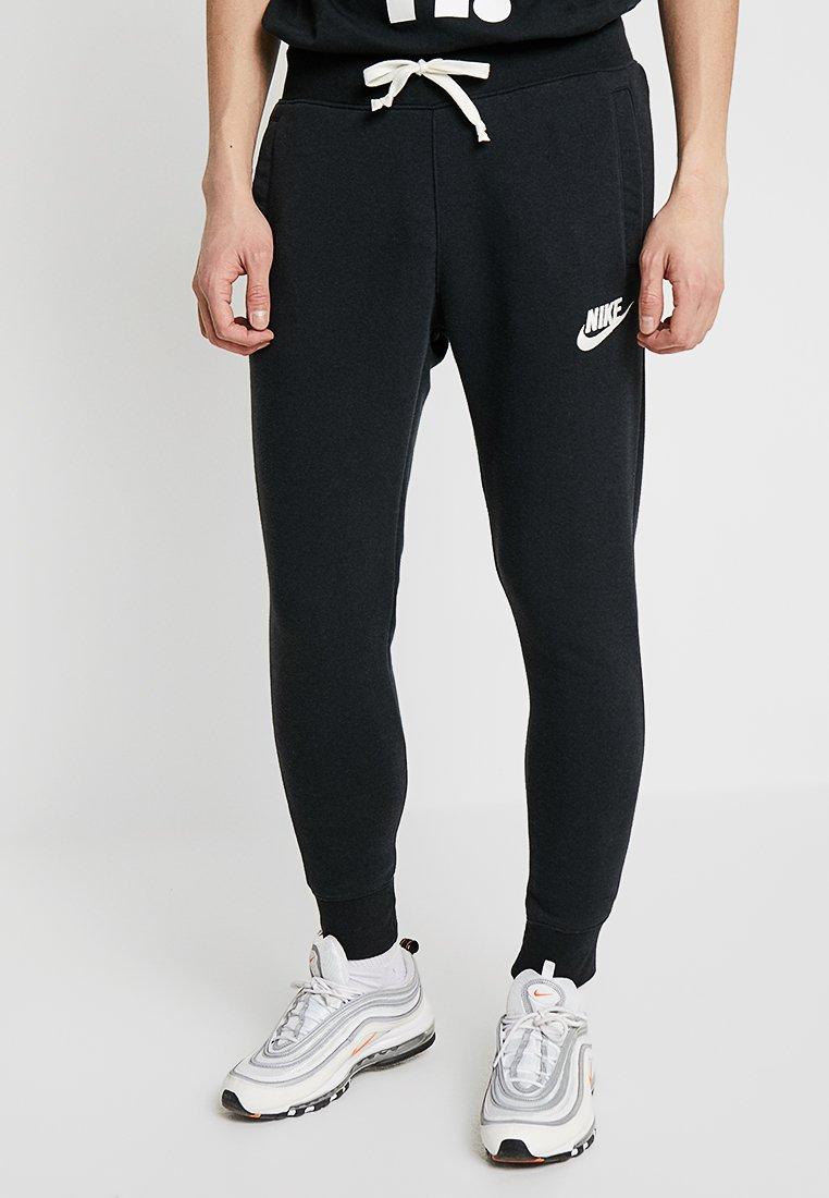 Nike Sportswear - HERITAGE - Tracksuit bottoms - black/sail