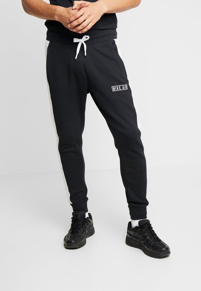 Nike Sportswear - AIR  - Pantalon de survêtement - black/white/grey heather
