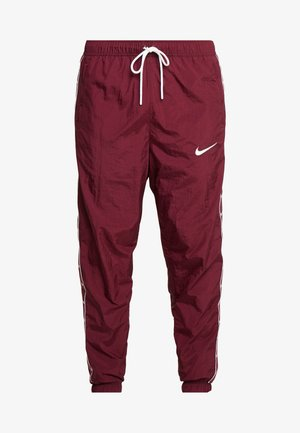 PANT - Tracksuit bottoms - night maroon/white