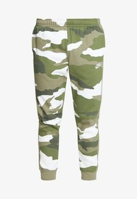 Nike Sportswear - CLUB CAMO - Pantalon de survêtement - medium olive/summit white - 4