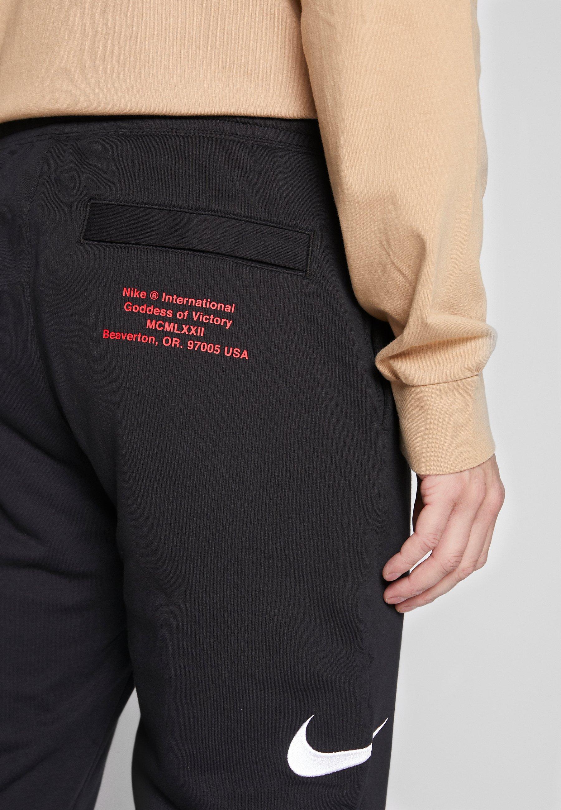 Nike Sportswear M NSW PANT FT - Pantaloni sportivi - black/white
