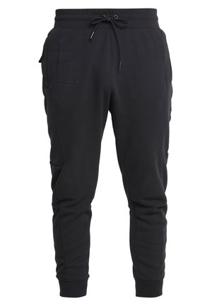 Tracksuit bottoms - black/university red