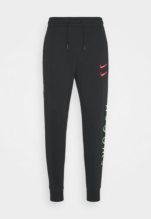 PANT - Tracksuit bottoms - black/green