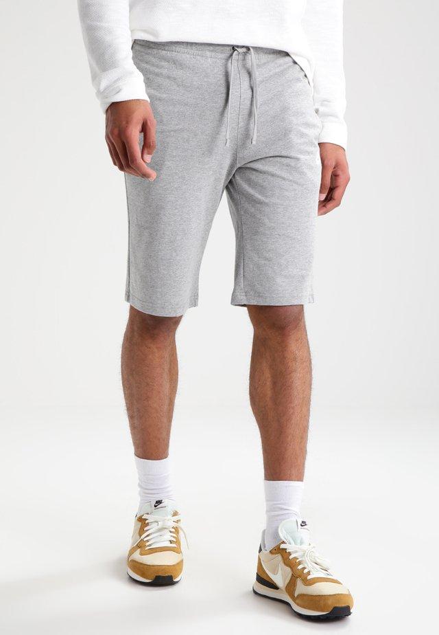 CLUB - Träningsbyxor - grau/weiß