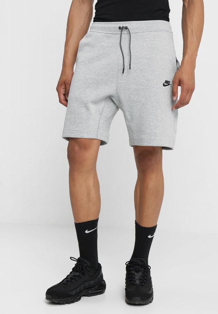 Nike Sportswear - TCH FLC - Short - dark grey heather/dark grey/black