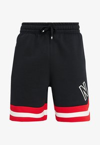 Nike Sportswear - AIR - Tracksuit bottoms - black/university red/sail - 5