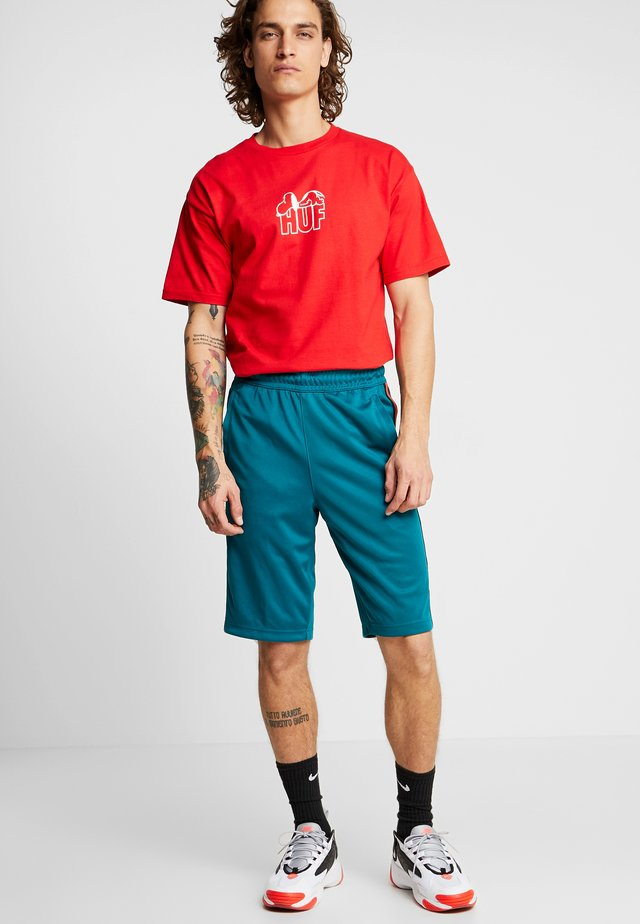 TRIBUTE  - Shorts - geode teal/university red