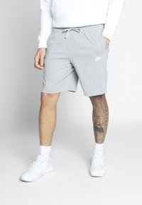Nike Sportswear - CLUB - Shorts - dark grey heather/white - 0