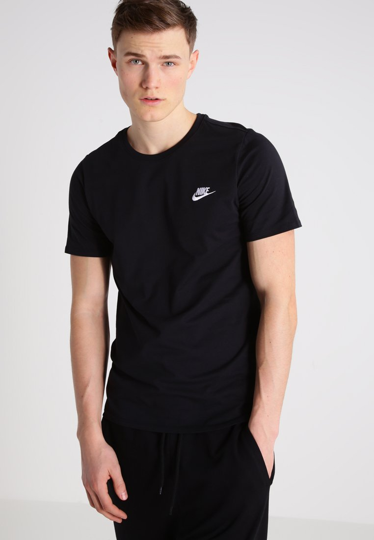 Nike Sportswear - CLUB EMBROIDERY  - T-Shirt print - black/black/white