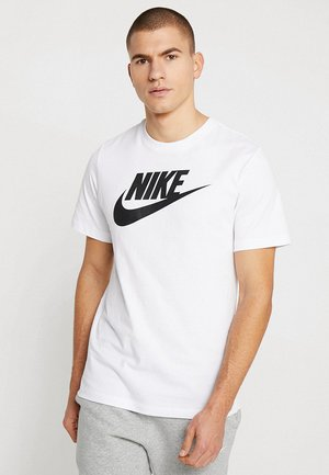 TEE ICON FUTURA - T-shirt con stampa - white/black