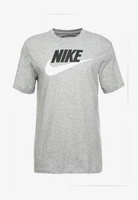 Nike Sportswear - TEE ICON FUTURA - T-shirts med print - dark grey heather/black/white - 3