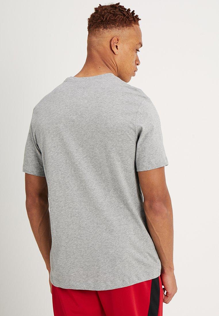 Nike Sportswear TEE ICON FUTURA - T-shirts print - dark grey heather/black/white - Tøj Til Herrer Salg