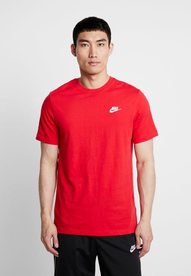 CLUB TEE - T-shirt basique - university red/white