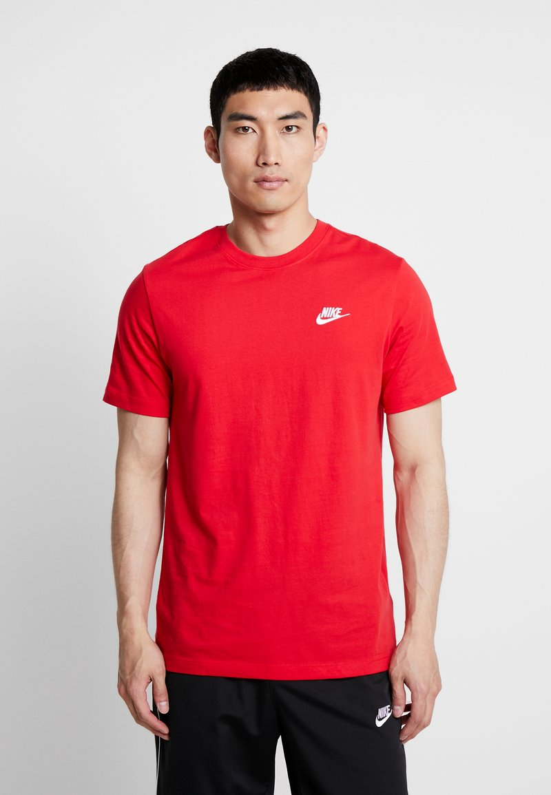 Nike Sportswear - CLUB TEE - T-shirt basic - university red/white
