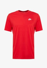 Nike Sportswear - CLUB TEE - T-shirt basic - university red/white - 4