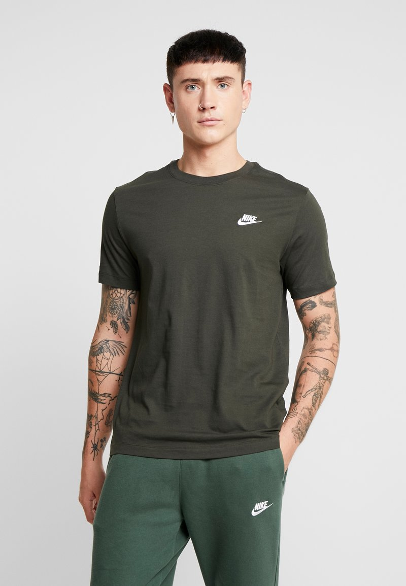 Nike Sportswear - CLUB TEE - T-shirt basic - sequoia/ white