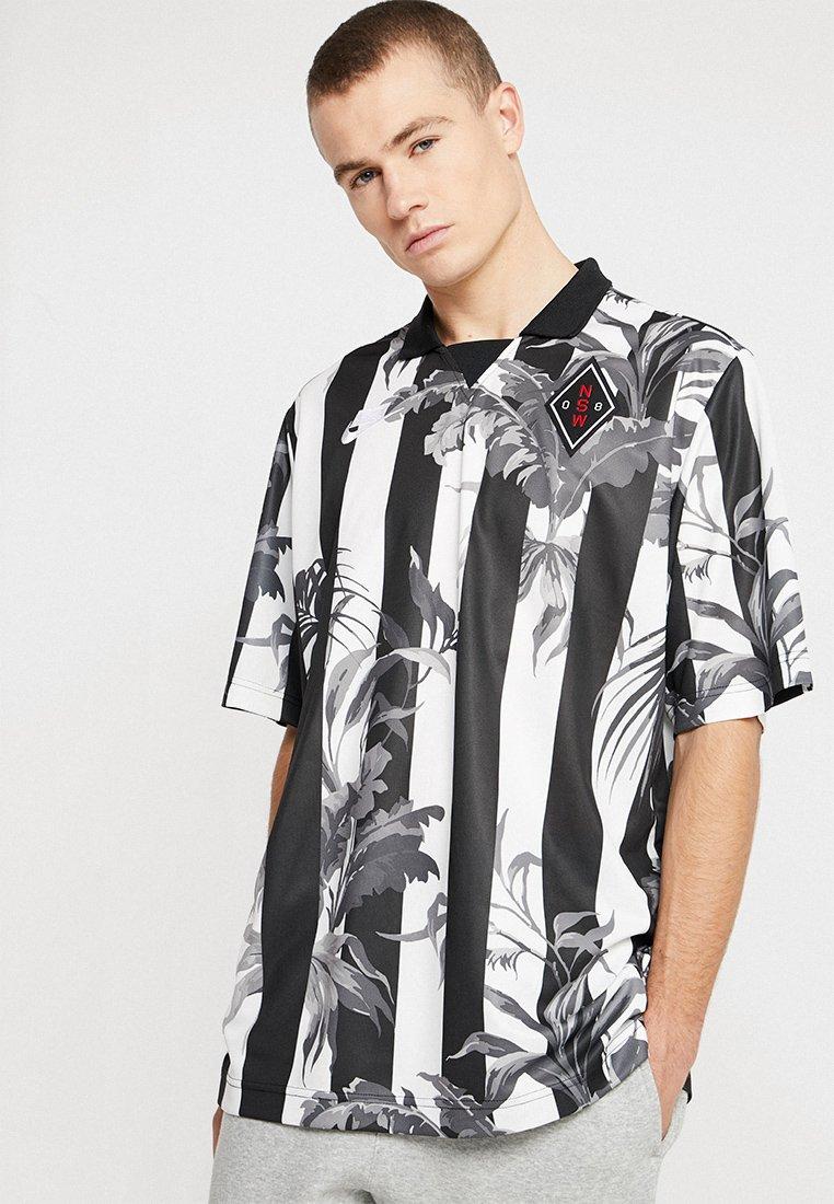 Nike Sportswear - TOP STRIPE - Camiseta estampada - black/white