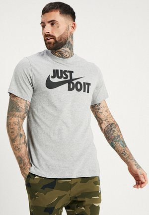 TEE JUST DO IT - T-shirt imprimé - grey heather