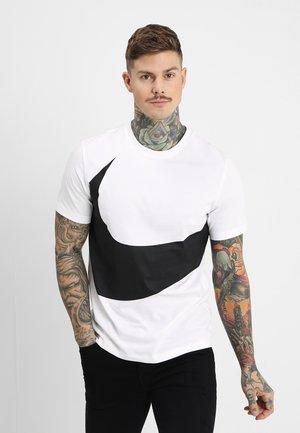 T-shirt med print - white/(black)