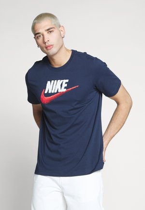 T-shirt imprimé - obsidian/white/university red