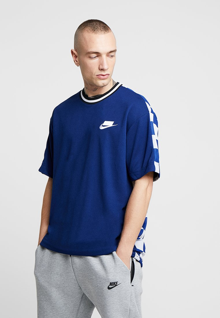 Nike Sportswear - TOP CHECK - T-Shirt print - blue void/royal blue/white