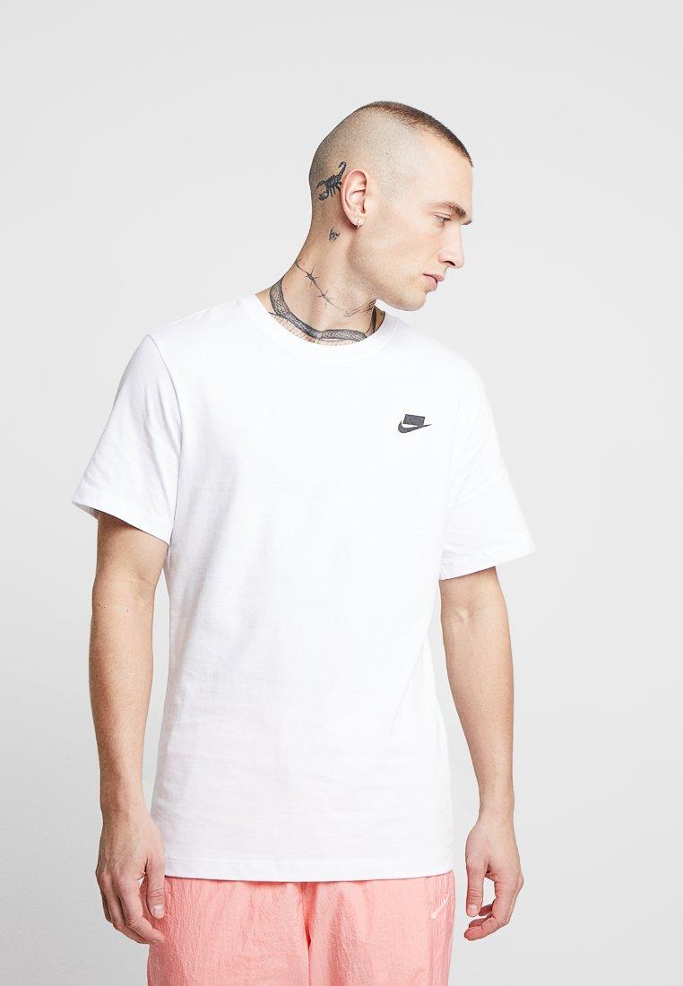 Nike Sportswear - TEE - T-Shirt print - white/black