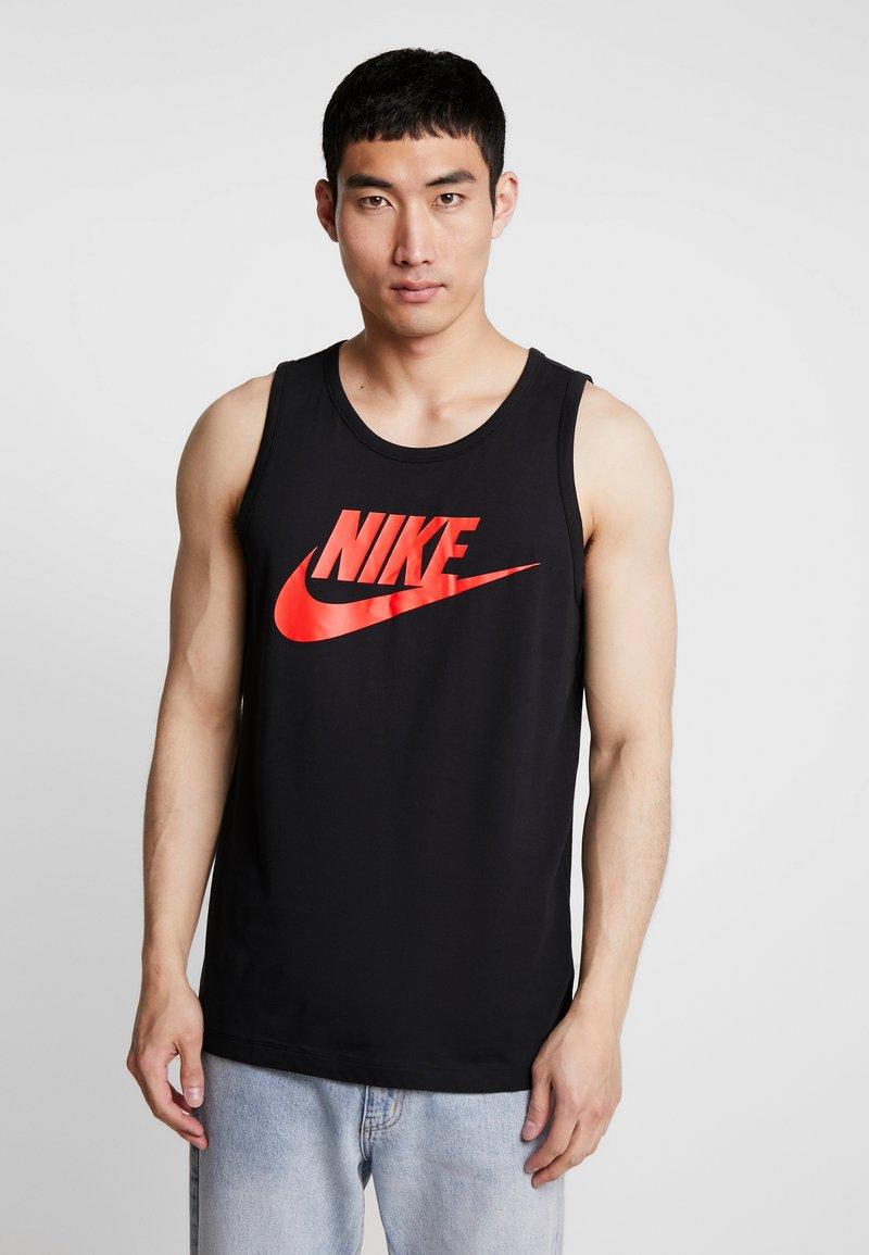 Nike Sportswear - TANK ICON FUTURA - Top - black/habanero red