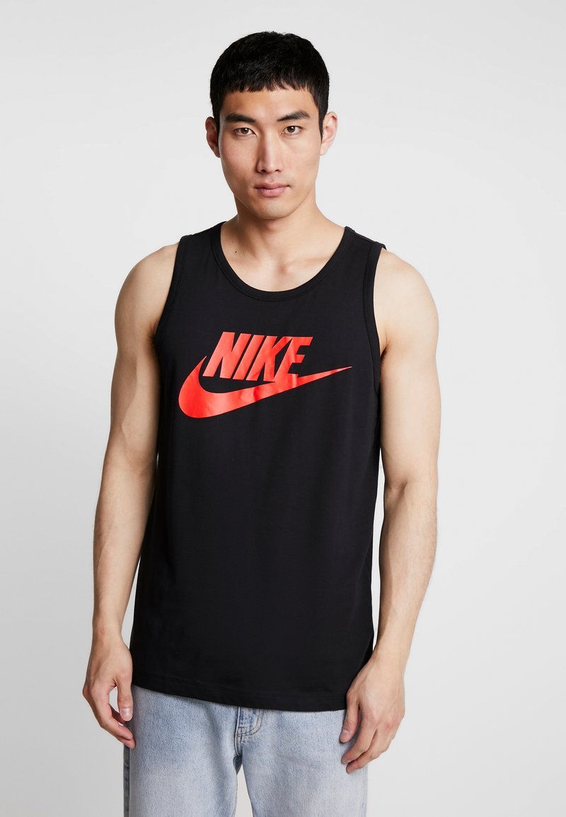 Nike Sportswear - TANK ICON FUTURA - Linne - black/habanero red