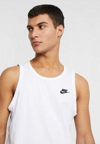 Nike Sportswear - CLUB TANK - Linne - white/black - 4