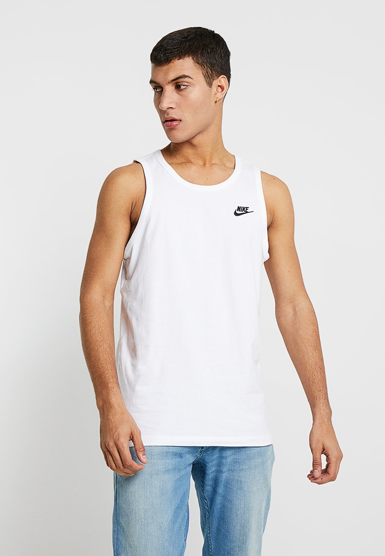 Nike Sportswear - CLUB TANK - Linne - white/black