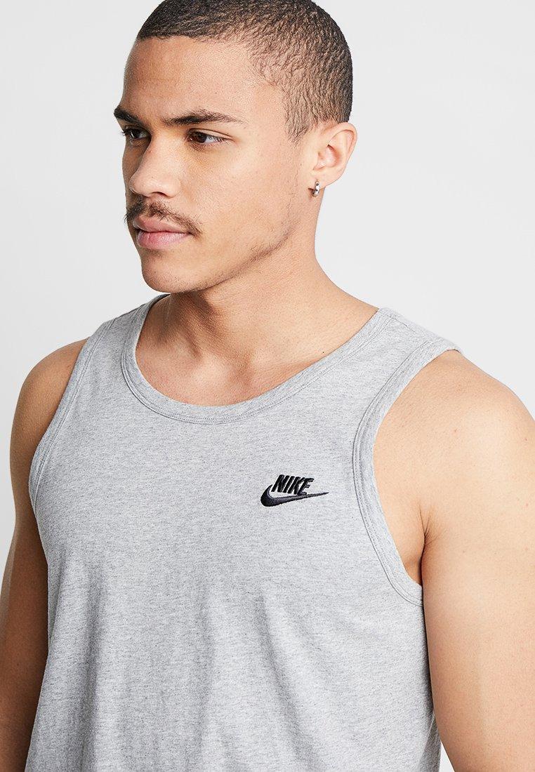 Nike Sportswear CLUB TANK - Top - dark grey heather/black