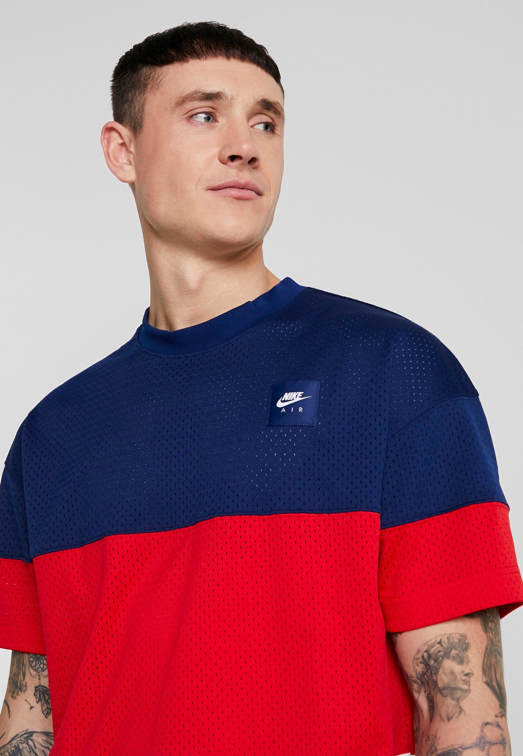 Nike Sportswear T-shirt Med Print - Blue Void/university Red/white