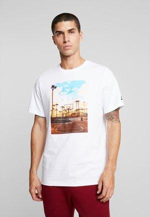 TEE COURT  - Print T-shirt - white