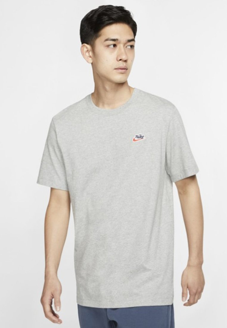 Nike Sportswear - TEE HERITAGE  - T-Shirt basic - dark grey heather