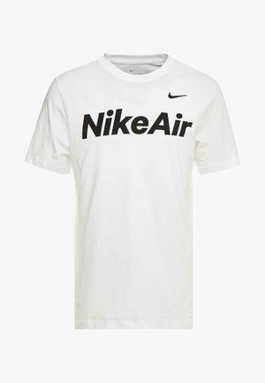 AIR TEE - Print T-shirt - white/black