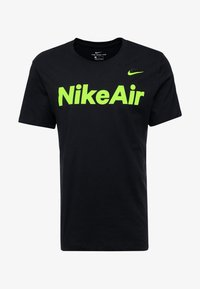Nike Sportswear - AIR TEE - T-shirt med print - black/volt - 4