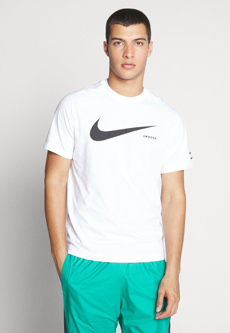 Nike Sportswear - Print T-shirt - white/black